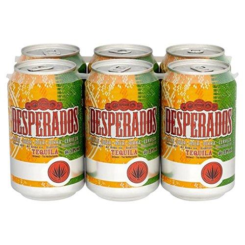 Las latas de cerveza Desperados Tequila 6 x 330 ml