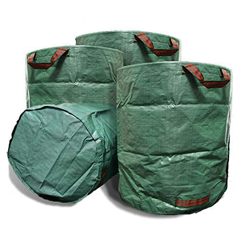 VINE RITUALS® 272 Litre Large Garden Bags.Reusable Lightweight Multi-Purpose Yard Bags with Handles for Potting (3 Pack)