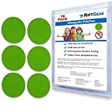 RiptGear Mosquito Patch (78 Pack) for Kids and Adults - Better Than Lotion Spray or Wipes - Travel Mosquito Patches - Natural and Deet Free