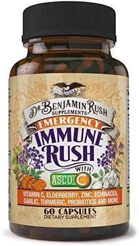 Immune Support with Immunity Boosters Vitamin C Elderberry Zinc Echinacea Garlic Turmeric Probiotics product image