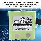4.8V 700mAh Batería NI-MH de reemplazo Batería de walkie-Talkie Adecuada para Uniden para Motorola TLKR T4 T5 T6 T7 T8 - Verde