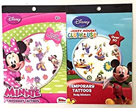 Mickey Mouse Clubhouse and Minnie Body Stickers - Over 100 Temporary Tattoos Total!