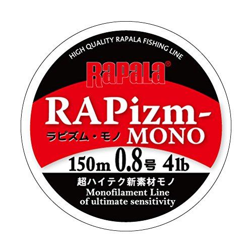 ラパラ ナイロンライン ラピズム モノ 150m 0.8号 4lb クリア RPZM150M08CL