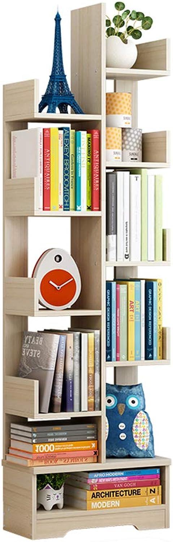 CL Simple Floor Modern Small Bookcase Tree Bookshelf Shelf Rack 46X21.5X151cm Bookshelf