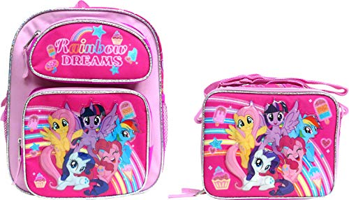 """My Little Pony 12"""" Toddler School Backpack with Lunch Box Set"""