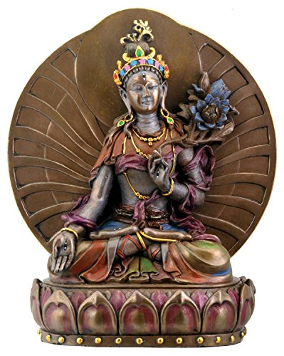 White Tara, Buddhist Goddess of Compassion and Longevity Statue, 6 Inches