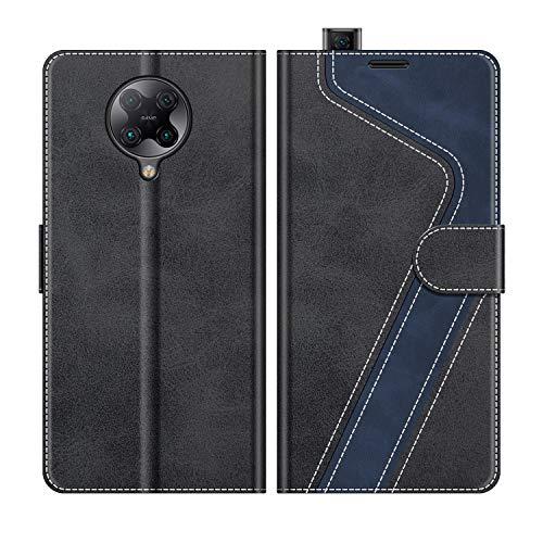 MOBESV Handyhülle für Xiaomi Poco F2 Pro 5G Hülle Leder, Xiaomi Poco F2 Pro 5G Klapphülle Handytasche Hülle für Xiaomi Poco F2 Pro 5G Handy Hüllen, Modisch Schwarz