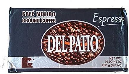 Del Patio Espresso Ground Caribbean Coffee (Cafe) from Puerto Rico 8.8 Ounces