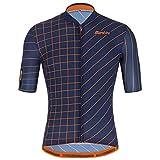 Santini Eco Sleek Dinamo Nautica Blue 2021 - Maillot de ciclismo de manga corta para hombre, Santini, Azul Nautica., extra-large