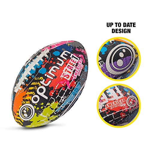 Optimum Unisex Street American Football, Multicoloured, Mini