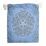 Lind88 - Sacchetti traspiranti per caramelle con motivo a fiori di fiordaliso, 6 pezzi, colore: Blu, Tela, bianco, 20 * 25cm