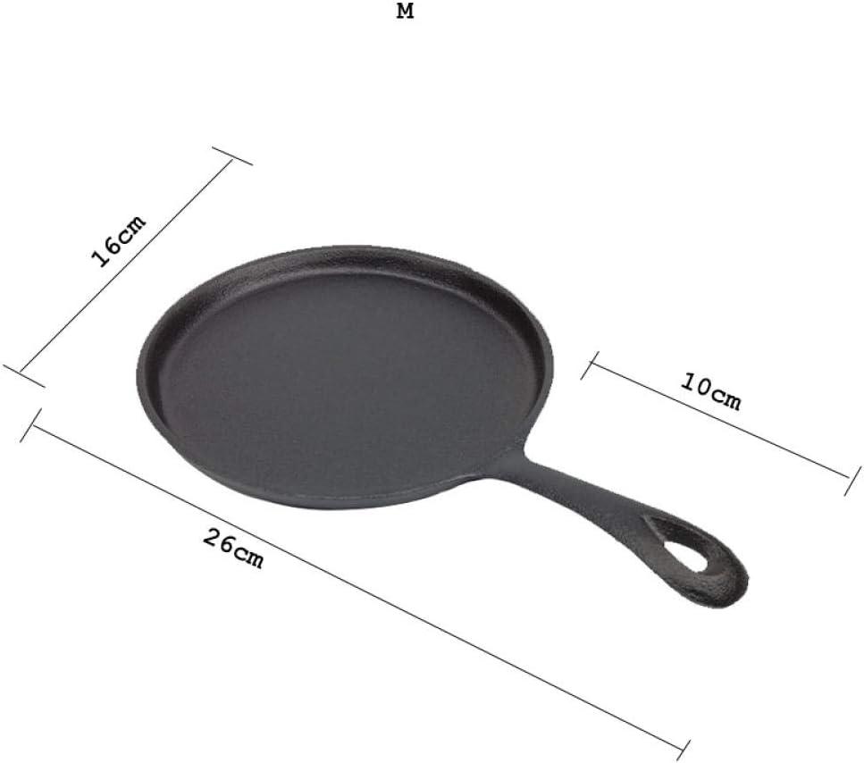 MOLUO pan 13cm / 16cm / 20cm Poêle à Frire antiadhésive en Fonte Omelette Épaissie Cuiseur Minute Minute Casserole antiadhésive @ 20cm_Noir 16cm