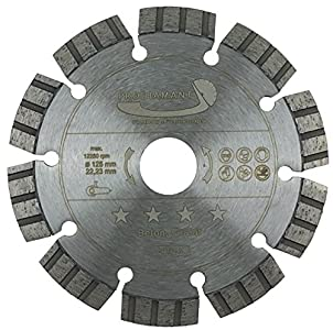 PRODIAMANT Disco de corte de diamante premium hormigón láser 125 mm / 22,2 mm, gris, PDX821.711 125 mm