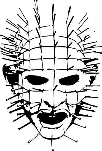 Supersticki Saw griezelig masker hoofd horror 20 cm sticker, autosticker, stickers, decoratie, muurtattoo, van hoogwaardige folie, uv- en wasstraatbestendig,