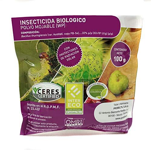 CULTIVERS Bacillus thuringiensis kurstaki 32 wg de 100gr. Insecticida Ecológico contra orugas. Insecticida biológico para Todo Tipo de Verduras