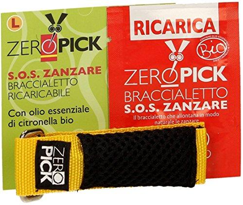 Zeropick Pulsera Antimosquitos L Amarilla Citronela Bio 200 g