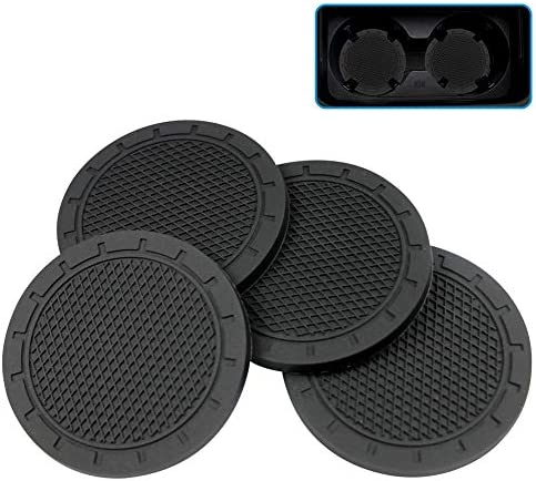 Eastlion 4 PCS Cup Holder Insert Coasters 2 75 Inch Diameter Travel Auto Cup Holder Coasters product image