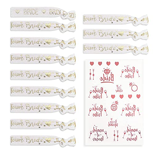 12 pulseras de despedida de soltero, 1 pegatina de tatuaje, accesorios nupciales, elsticos y cmodos, adecuados para despedidas de soltero, decoraciones de boda, grupos de dama de honor