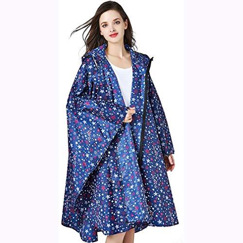 Waterdichte ritssluiting Rain Poncho jas voor volwassenen, Coat Herbruikbare Rain Hooded Regenkleding voor Outdoor-activiteiten Camping Reizen Fietsen