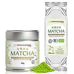 🍵 80G SET - This set includes both the tin container (40g), as well as the 'refill' edition (40g) of the Spring Blossom ceremonial grade matcha tea - both containing the very same, premium quality, fresh powder. The refill version is packed in a vacu...