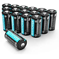 16-Pack RAVPower CR123A 3V Non-Rechargeable Lithium Batteries