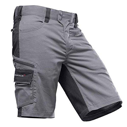 Pfanner StretchFlex Canfull Shorts 107056, Farbe:grau/schwarz, Größe:56