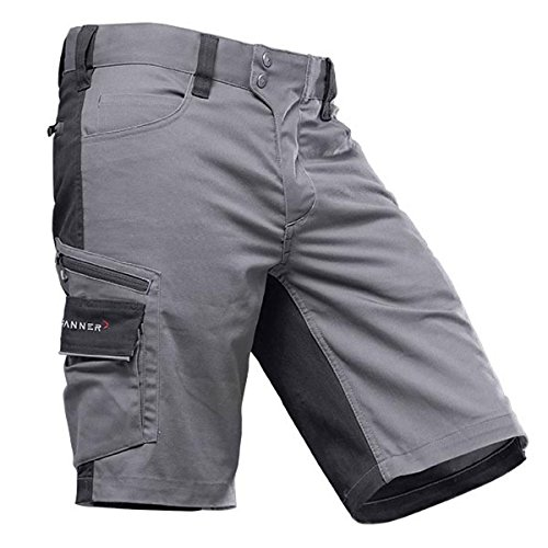 Pfanner StretchFlex Canfull Shorts 107056, Größe:56, Farbe:grau/schwarz