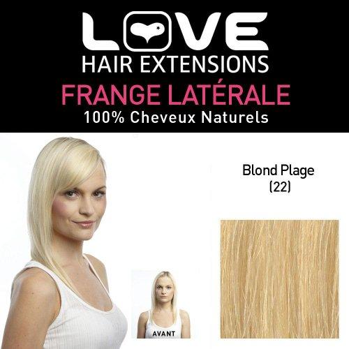 Love Hair Extensions - LHE/FRA1/QFC/CISF/22 - 100 % Cheveux Naturels - Frange Latérale - Couleur 22 - Blond Plage