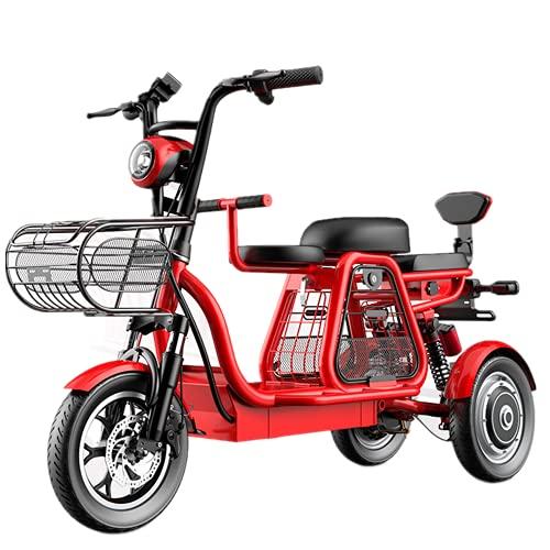 ZYW Triciclo con Cerradura Eléctrica Triciclo De Asiento para Niños Scooter Eléctrico...