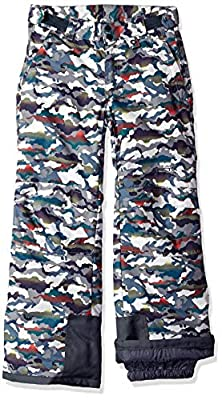 Arctix Kids Snow Pants with Reinforced Knees and Seat, White Multi Camo, Small