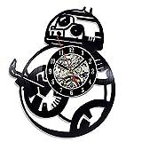 Bb-8 Seven Set Force Avens Gift Vinyl Record Reloj de pared Decoración del hogar Arte LED con 7 colores