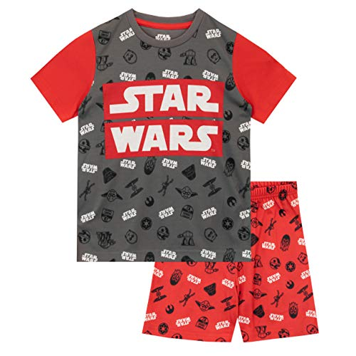 Star Wars Pigiama a Maniche Corta per Ragazzi 2 Pacchi Guerre Stellari Multicolore 9-10 Anni