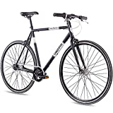 CHRISSON Vélo de Course rétro rétro rétro rétro 28' – Vintage Road N7 Noir avec 7 Vitesses...