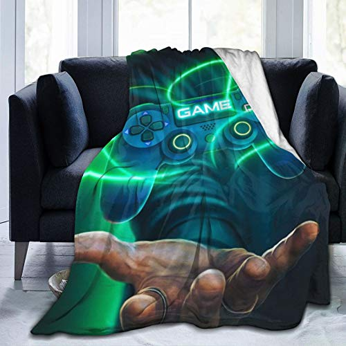Gangster Gamer Spielekonsole Cosplay beliebte Game Controller Party Dekorationen Schießspiel Cosy Fleece Blanket Superweiche Flauschige weiche Flauschige warme Mikrofaser 50 'x 40'