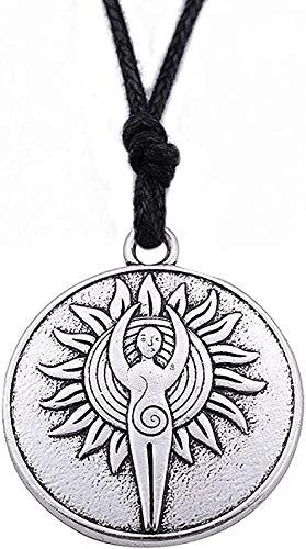 LBBYLFFF Collar Moda Vintage Sun God Religion T Collar con aleación de Zinc T y Reloj Despertador o Cadena de eslabones para Hombres y Mujeres