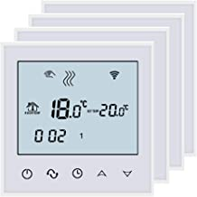 Par Piles AA 1.50 VoltsV Blanc Bleu Contr/ôle Beok BOT-313W Chaudi/ère Thermostat Programmable Avec /écran LCD