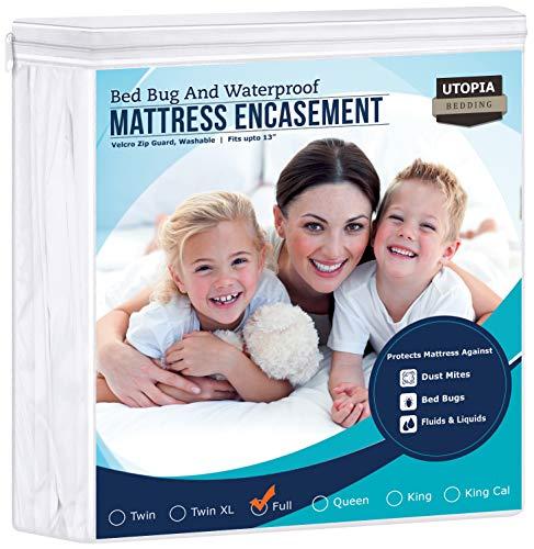 Utopia Bedding Zippered Mattress Encasement - Waterproof Mattress Protector (Full)