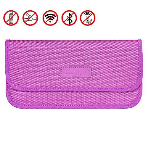 Faraday-Tasche, wisdompro RFID-Signal Blocking Bag Schirmung aus PU für Handy Sichtschutz und Auto Schlüsselanhänger