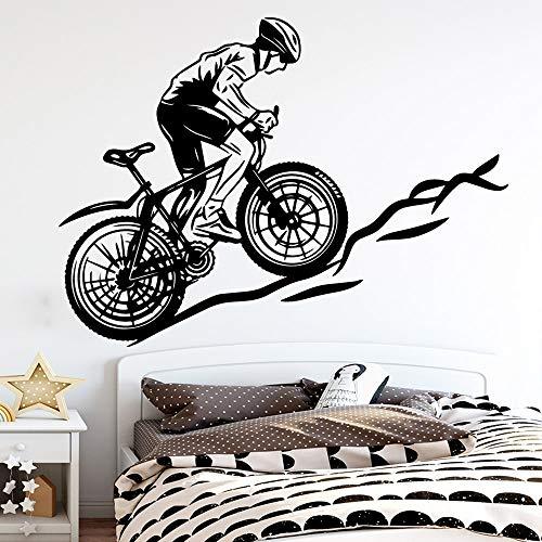 Bicicleta de lujo decoración del hogar decoración moderna sala de estar dormitorio pegatinas pegatinas de pared a prueba de agua mural A5 43x58cm
