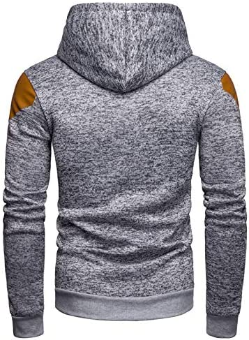 Pulls Veste Eté Automne Zipper Sweat à capuche Drawstring Tops manches longues Homme Pull à capuche Manteau de poche (Color : Dark Grey-XL) LightGray-L