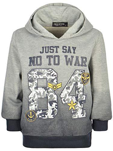 BEZLIT Kinder Jungen Kapuzen-Pullover Hoodie Sweatshirt Sweater 22896 Grau 104