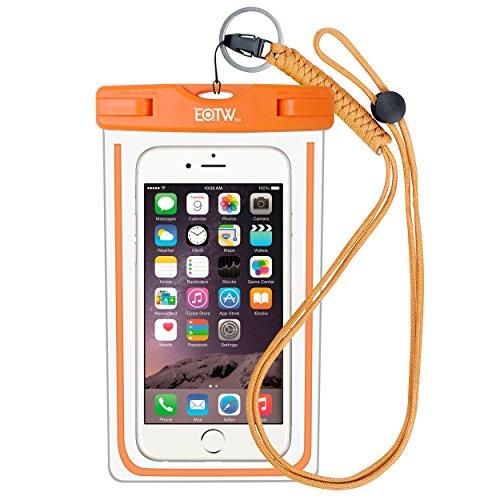 EOTW IPX8 wasserdichte Tasche für Handy bis zu 6,5 Zoll, Handy Hülle Wasserdicht Gut Urlaub Zubehör für Meer, Pool, Surfen, Absolut wasserdicht Für Taucher und Schnorchler, Orange