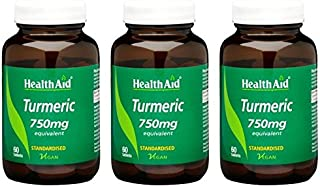 (3 Pack) - HealthAid - Turmeric (Curcumin) 750mg | 60's | 3 Pack Bundle