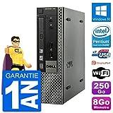 Dell Ultra Mini PC Optiplex 790 USFF G640 RAM 8Go Disque 250Go Windows 10 WiFi...