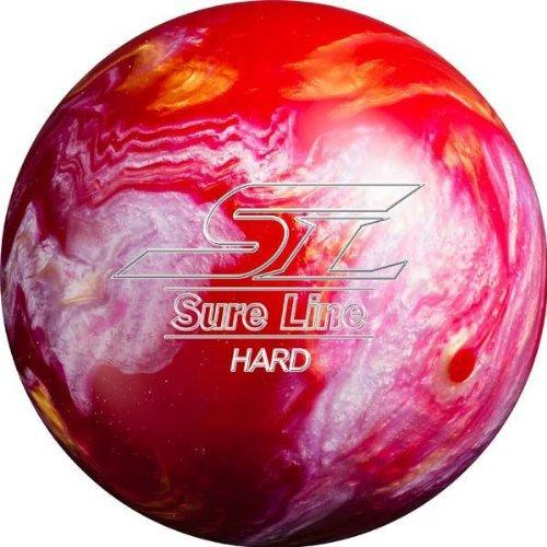 (ABS) ボウリングボール シュアラインハード ピンク 14ポンド 【スペアボール】