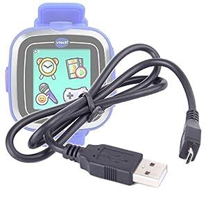 DURAGADGET–Cable de transferencia de datos USB–y sincronización para reloj inteligente Vtech Kidizoom Smart Watch y Smart Watch Plus–155705–Juego electrónico