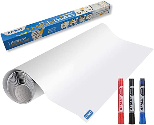 lowest White Board Sticker, Whiteboard discount Paper, Upgrade PET-No Ghost, 1.45x11ft, Super Sticky, Stain-Proof Dry Erase Film Self Adhesive Wall Paper Roll outlet online sale for Classroom/Office/Kids Painting, 3 Dry Erase Markers outlet online sale
