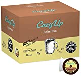CozyUp 76-Count Medium Roast Colombian Coffee Pods for Keurig K-Cup Brewers