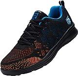 LARNMERN Zapatos de Seguridad Hombre con Punta de Acero Botas Zapatillas Femenino Ligeros Calzado de Trabajo, Azul 42 EU