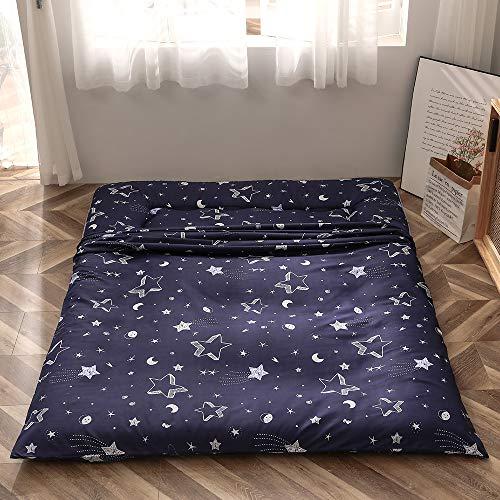 Navy Star Futon Mattress Japanese Floor Mattress Tatami Floor Mat Foldable Bed Portable Camping Mattress Kids Sleeping Pad Floor Lounger Couch Bed Twin Size